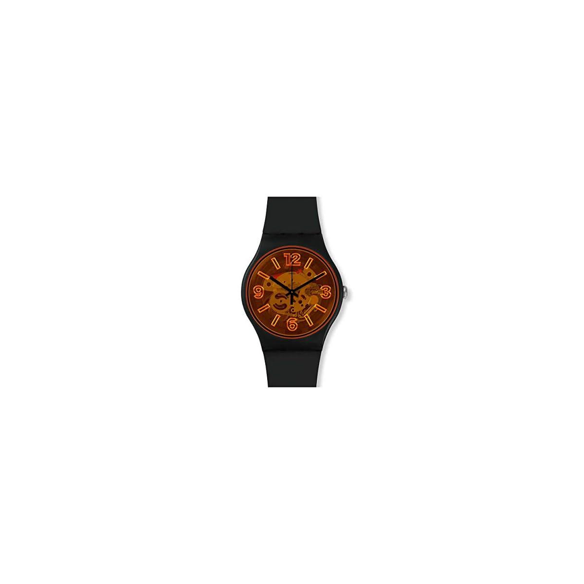 41Aq8uIKNdL. SS1200  - Swatch Reloj Analógico para Hombre de Cuarzo con Correa en Silicona SUOB164