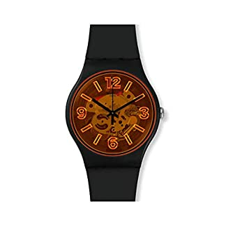 Swatch Reloj Analógico para Hombre de Cuarzo con Correa en Silicona SUOB164