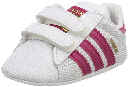 adidas Unisex Baby Superstar Crib-S79917 Gymnastikschuhe, Elfenbein Bold Pink/FTWR White, 16 EU