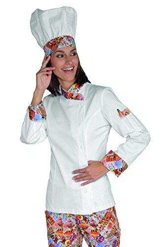Isacco Jacke Lady Snaps Delicious Isacco - Delicious - XL - 100% Baumwolle - Lange Ärmel Xl Workwear-snap
