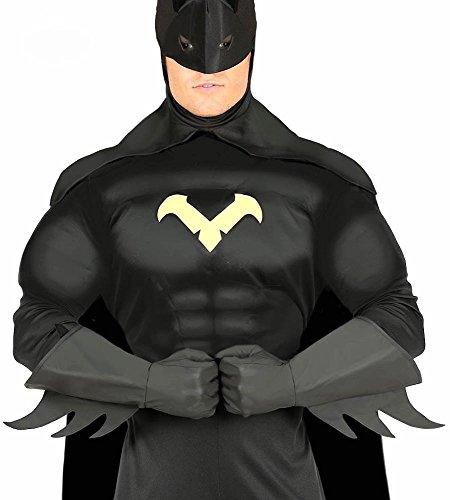 uperhelden Herren Handschhuhe Superhero Kostüm-Zubehör Karneval Verkleidung (Batman Handschuhe)
