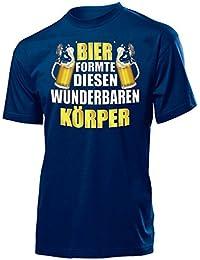 OKTOBERFEST - Funshirt - BIER FORMTE DIESEN WUNDERBAREN KÖRPER T-Shirt Herren S-XXL - Deluxe