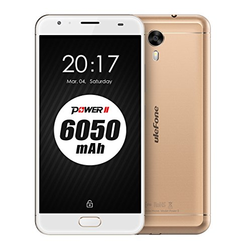 Ulefone Power 2,Android 7.0,6050mAh gran batería,5.5 pulgada FHD 1920*1080 Pixel,4GB RAM+64GB ROM,8MP+13MP cámara,MT6750T Octa-Core 1.5 GHz CPU,4g al aire libre impermeable smartphone,oro