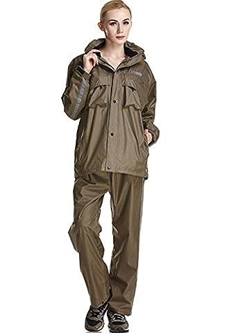 Icegrey - Manteau imperméable - Manches Longues - Homme - marron - 3,5 cm