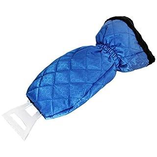 Medoon Eiskratzer Auto Eiskratzer mit Handschuh Eisschaber Flauschiges Innenfutter Wasserdicht Tuch Für Frontscheibe Autos