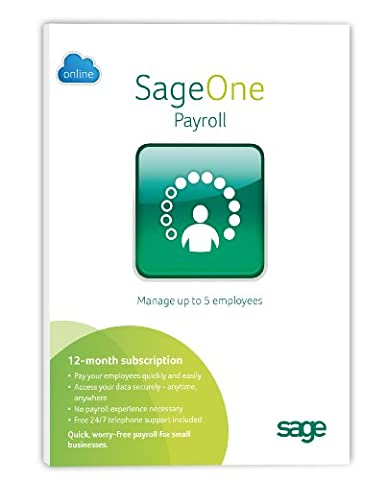 Sage One Payroll 5 Emp 12 months Subscription [import anglais]