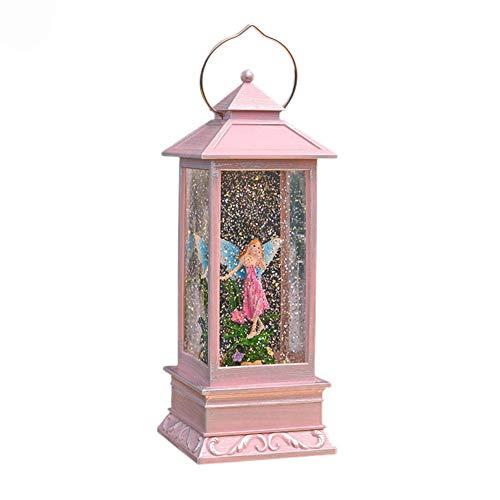 San valentino-blu cornice rosa cristallo luce del vento lampada da tavolo al chiaro di luna lampada atmosfera a led luce notturna ideale regalo romantico per san valentino, regalo di anniversario