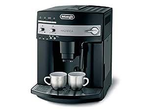 De'Longhi Magnifica ESAM 3000.B – Kaffeevollautomat mit Milchaufschäumdüse, Direktwahltasten & Drehregler, 2-Tassen-Funktion, großer 1,8 l Wassertank, 36 x 28,5 x 37,5 cm, schwarz