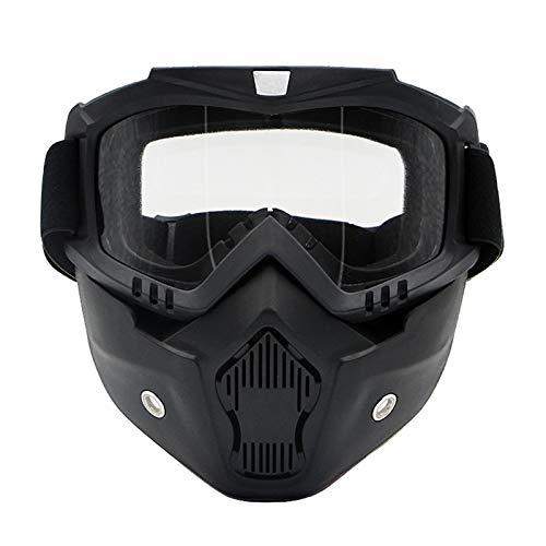 Blisfille Sonnenbrille Polarisiert Retro Maske Off Road Schutzbrillen Motorrad Helm Schutzbrillen Persönlichkeit Clearance Damen Herren