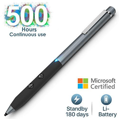 Microsoft Surface Stift mit 1024 Druckpunkten, 500 Stunden Dauereinsatz & 180 Tage Standby Surface Pen Kompatibilität mit Surface 4/Pro 4/Pro 5/Pro 6,Surface Go/Book/Laptop/Studio,Integrierter Akku - 4h 4 Licht
