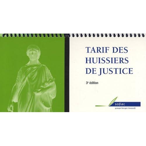 Tarif des huissiers de justice