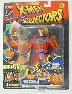 X-Men Projectors Magneto Figure with 3 Different Film Disks by Toybiz
