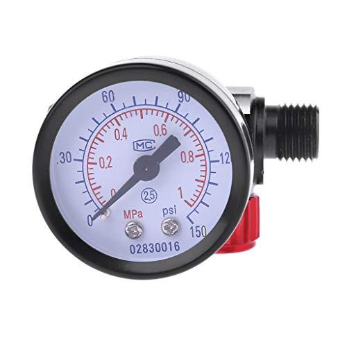 Air Control Gauge (VvXx Spritzpistole Luftregler G1/4 Zoll Tail Pressure Gauge Air Filter Regulator Pneumatic Control Airbrush Tools)