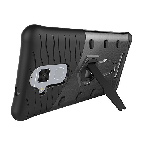 Für Asus Zenfone3 Max ZC520TL Fall Neue Rüstung Tough Style Hybrid Dual Layer Rüstung Defender Soft TPU / PC Rückseitige Abdeckung Fall mit 360 ° Stand [Shockproof Case] ( Color : Blue ) Black