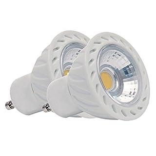 5W = 30W 240V 35W 410lm GU10LED Spot Lampe, 6400K COB Cool Daylight Weiß Energiesparende Strahler 86480D Birne