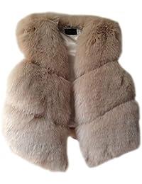 6b357b11c3a460 Pelzweste Damen Elegante Ärmellos Kunstpelz Outerwear Plüsch Winter Warme  Verdicken Unikat Style Trendigen Unifarben Fellweste Jacken…