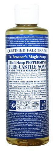 Castile Liquid Soap (Organic) - Peppermint Dr. Bronner S 8 oz Liquid by Dr. Bronner S [Beauty] (English Manual)