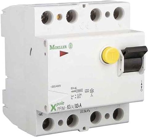 Interrupteur 4 Poles - Disjoncteur FI Moeller 4 pôles 40A-Equipement tableau