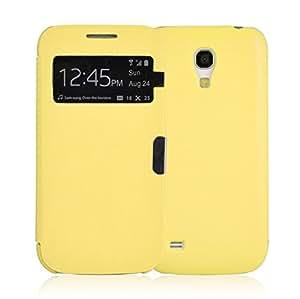 JAMMYLIZARD | Smart View Hülle für [ Samsung Galaxy S4 Mini ] Flip Case Cover mit S-View Funktion, GELB