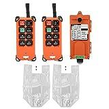 Keenso Funkfernbedienung wasserdicht Industrielles Fernbedienungssystem AC 220V Wasserdichter Industrieradio-Funkfernbedienungssender und -empfänger Kanal-Hebekran-Funkfernbedienung 2 Sender
