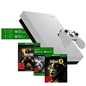 Microsoft Xbox One X 1TB – Fallout 76 Bundle Special Edition Weiß + Call of Duty: Black Ops 4 Standard Plus Edition…