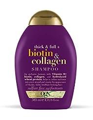 OGX Biotin & Collagen Hair Thickening Sulfate Free Shampoo, 385 ml