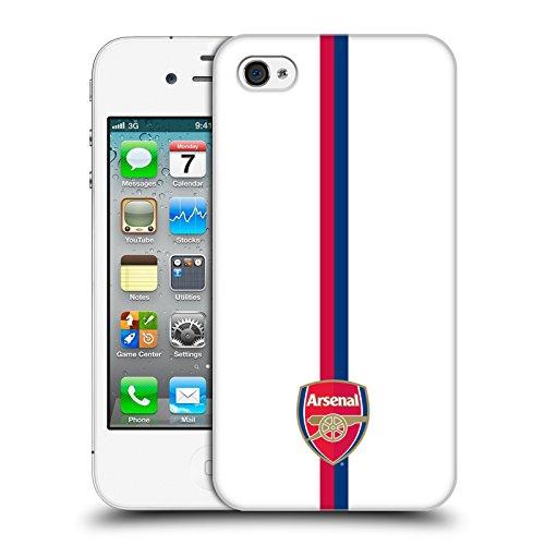 Ufficiale Arsenal FC Logo Nero 2016/17 Crest Cover Retro Rigida per Apple iPhone 5 / 5s / SE Strisce 1