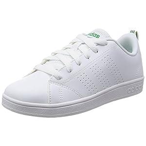 adidas Vs Advantage Cl K, Zapatillas de Deporte Unisex Niños, Blanco (Ftwbla / Ftwbla / Verde), 37 1/3 EU