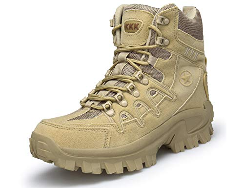 SINOES Stiefel Herren Wanderschuhe Trekkingschuhe Damen Armee Combat Tactical Boots Verschleißfest Rutschfeste Outdoor Einsatzstiefel Für Maenner Frauen