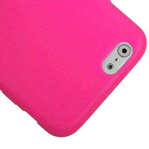 Phone custodia cover Per iPhone 6 & 6S, custodia protettiva TPU con schermo di tocco orizzontale a sfere ( Color : Blue ) Magenta