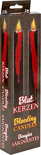Star Wars Z874630 Horror-Effekt-Kerze Bloody Blutkerzen 2er Set, Schwarz