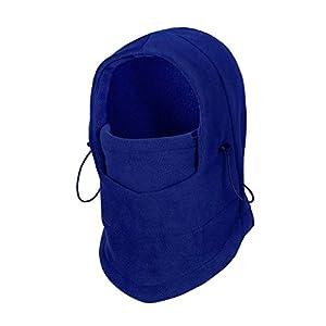 Unisex 6 in 1 Sturmhaube Doppelschicht-Masken Fleece Gesichtshaube Skimaske Schlupfmütze Multifunktionale Outdoor-Mütze für Damen und Herren