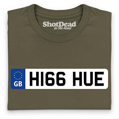LRO Hue Number Plate T-Shirt, Damen Olivgrn
