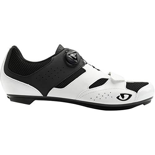 Giro Savix - Scarpe da Ciclismo su Strada da Uomo, Bianco (White/Black), 49 EU