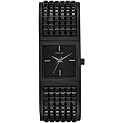 DKNY Women's Quartz Watch with Black Dial Analogue Display and Gold Stainless Steel Plated NY2233