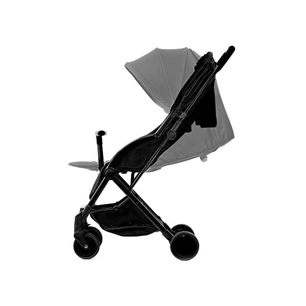 Kinderkraft Stroller PILOT Lightweight 5.8kg Compact Folded Pushchair Pram Buggy with Adjustable Footrest | Accessories Rain and Foot Cover from Birth to 3.5 Years (0-15kg) kk KinderKraft Mechanism for easy folding with one hand After folding, the stroller resembles a briefcase You do not have to stop and move around the stroller to make eye contact with the child 4