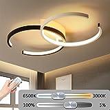 LED Moderne Dimmable Schlafzimmer Deckenlampe, Kreative Blume Form Design Deckenleuchte, Acryl Aluminium Hängeleuchte Beleuchtung Dekoration Wohnzimmer Lampe Esszimmerlampe 220V