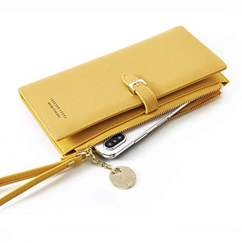 MARBER Frauen Leder Brieftasche große kapazität pu Leder geldbörse für Dame Handtasche Lange Brieftasche für Frauen mit reißverschluss Tasche und handgelenkgurte Frauen Geschenke