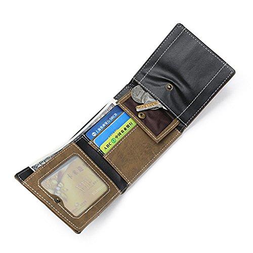 Sharplace Herren Geldbörse Portemonnaie Brieftasche Geldbeutel Kreditkartenetui Kartenetui aus Leinwand Gelb