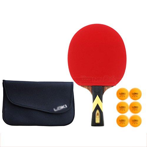 xianw Professionell Freizeit Spiel Racket,Praxis Ausbildung bat, Ping Pong paddel - 1 pro Premium-Tischtennis-SCHL?ger-Set,6 Kugeln,Zubeh?r zu bündeln Portable kit Cover case Tasche-H