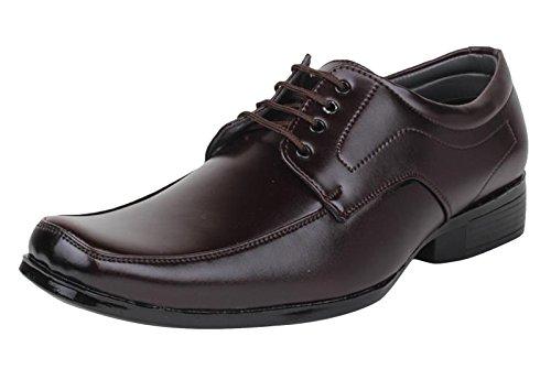 Digni loafer Chaussures occasionnels formelle usure dentelle jusqu'à parti hommes conduire slippe - choisir la taille Marron