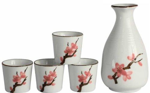 5-teiliges Porzellan Sake Set aus der Serie
