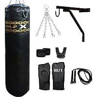 4ft,5ft,6ft Punch Bag /MMA/kick/Heavy Filled 25-30kg (8 Pcs Set Black)