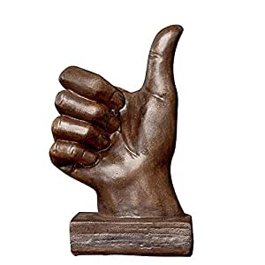 Feiledi commerciale ornamenti decorazione domestica, bronzo Colore OK mano gesto figurine arte decorativa scultura, desktop Home retro pollice gesto decorazione, Bronze, Praise