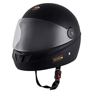 Autofy O2 Max DLX Full Face Helmet With Scratch Resistant Visor (Matte Black,M)