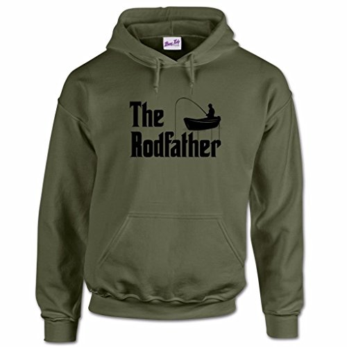 Gifts for Fisherman Fishing Hoodies Clothing Hooded Sweatshirt The Rod Father