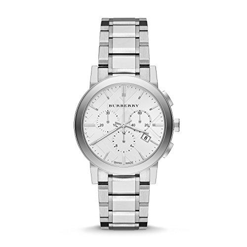 Burberry BU9750-Armbanduhr Damen, Armband aus Edelstahl Farbe Silber