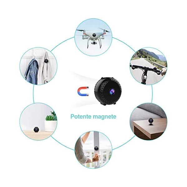 Mini-Telecamera-Sorveglianza-Spia-KEAN-Full-HD-1080P-Portatile-Micro-Nascosta-Microcamera-con-Visione-Notturna-Rilevamento-di-Movimento-Registrazione-in-Loop-per-EsternoInterno