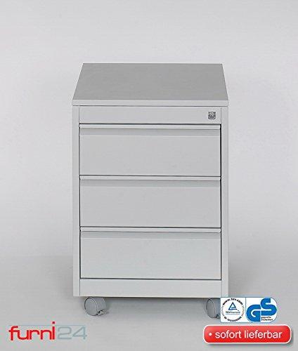 Rollconteiner Schreibtischcontainer 2 Schübe Farbe schwarz RAL 9005 pulverbeschichtet
