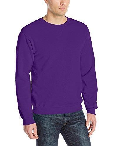 Fruit of the Loom Herren Sweatshirt Fleece Crew - Violett - Mittel Classic Crew Fleece Sweatshirt